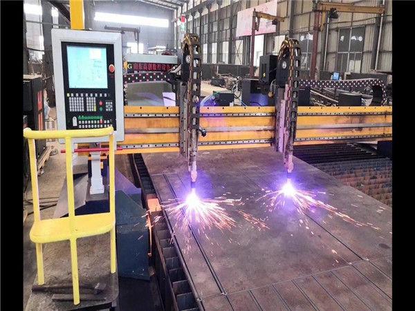 Peiriant Torri Plasma CNC Gantry Drive Dwbl H Hypertherm Llinell Cynhyrchu Trawst System CNC
